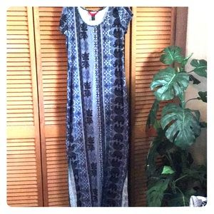 Dresses & Skirts - Blue Double Slit Maxi Dress